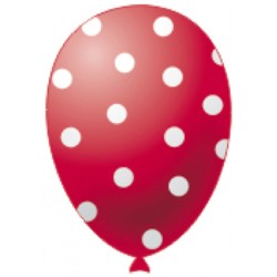 Palloncini Pois Rosso Pz.20
