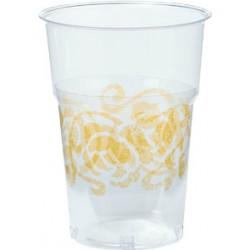 Bicchieri Crystal 25cl Oro 10pz