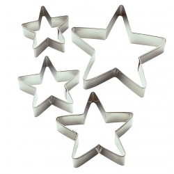 Set 4 Mini Tagliapasta Stella Metallo