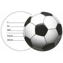 Inviti Calcio 10 Fogli