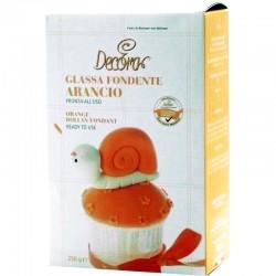 Glassa Fondente Arancio 250gr