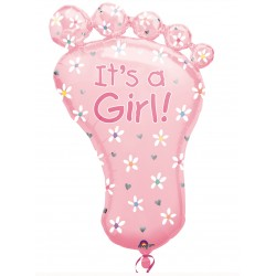 Palloncino Mylar Piede Rosa It's A Girl