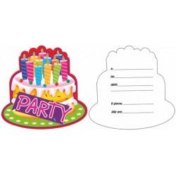 Inviti Torta Party 10 Fogli