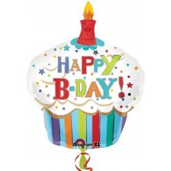Palloncino Mylar Cupcake Happy Birthday