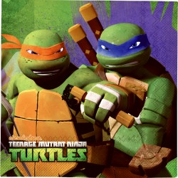 Ninja Turtles Tovaglioli 33x33 Cm Pz.20