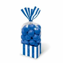 Sacchetto Per Caramelle Strisce Blu