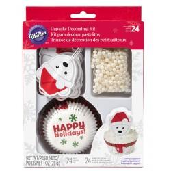 Decorazioni Cupcakes Orso 48pz
