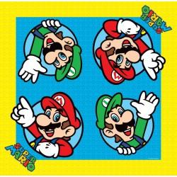 Super Mario Tovaglioli 33 X 33 Cm. Pz.16
