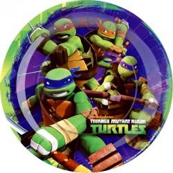 Ninja Turtles Piatti Rotondo 23 Cm Pz.8