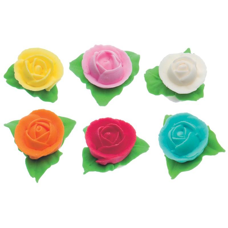 cf6-rose-con-3-foglie-rosa-fiori-e-foglie-dc0500224-decora.jpg - Bel Divano In Pelle Posteriore Con Sedili Imbottiti Armi