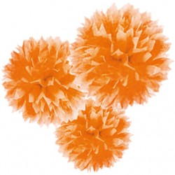 Set 3 Fluffy Carta 4'+9'+16' Arancio