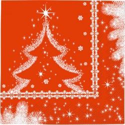 Tovaglioli 33x33 Pz.20 Snow Tree