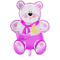Pallone Orsetto 75 Cm.teddy Battes.rosa