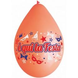Palloncini E' Qui La Festa 8pz
