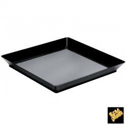 Vassoio Medium Plate Nero 12pz