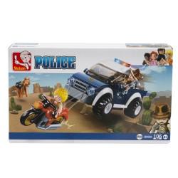 SLUBAN - Macchina e Moto Police-POS190009