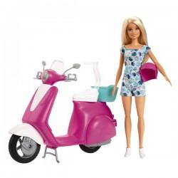 Barbie con Moto con Casco e Barbie Inclusa-POS190177