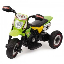 LAMAS - Moto Elettrica Mini Cross Verde - 6V