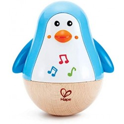 Penguin Music Wobbler-Baby Musical Instrument Pinguino Giroscopio, Multicolore, E0331