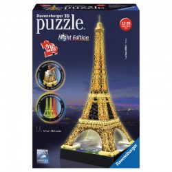 Ravensburger - Puzzle 3D Tour Eiffel Night Edition Con Luce