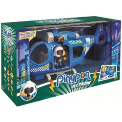 Pinypon Action 700014782 - Police Helicopter, Personaggio e Accessori, per Bambini da 4 a 8 Anni Marca: Pinypon Action