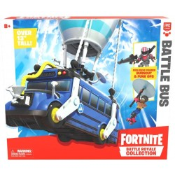 giochi preziosi fortnite battle bus con personaggio, 5 cm