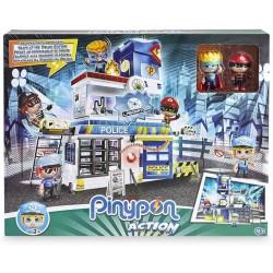 giochi preziosi pinypon action stazione di polizia con 2 personaggi mix&match e accessori