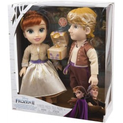 giochi preziosi disney frozen 2 anna and kristoff, con accessori