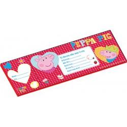 Peppa Pig Biglietti Inviti Assegno Pz.20