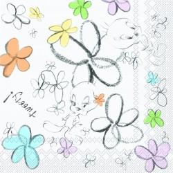 Tovaglioli 33x33 Pz.20 Tweety Flower