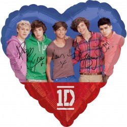 Palloncino Mylar Cuore One Direction