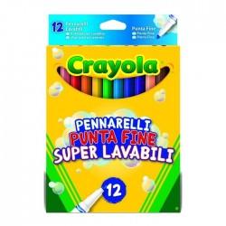 Crayola 12 Pennarelli Lavabili Punt.fine