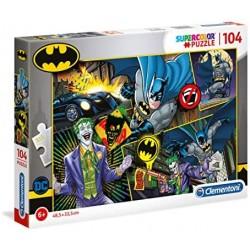 Clementoni - 25708 - Supercolor Puzzle - Batman - 104 pezzi - Made in Italy - puzzle bambini 6 anni+