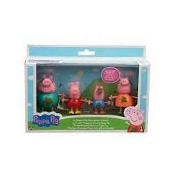 Giochi Preziosi- Peppa Pig Set Famiglia Pozzanghera di Fango, Multicolore, PPC92000