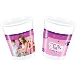 Violetta Bicchieri Plastica 20 Cl Pz.8