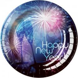 Piatti Happy New Year Cm.23 Pz.8