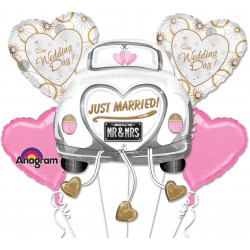 Set Di Palloni Mylar Just Married