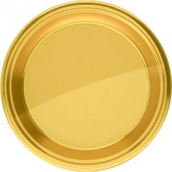 Piatti Rotondo 23 Cm Oro Pz.8