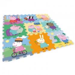 Peppa Pig - Tappeto Eva 32x32 9 Pezzi 9