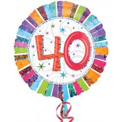 Palloncino Mylar Compleanno 40 Anni