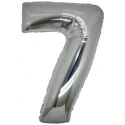 Numero 7 In Mylar Argento 100cm