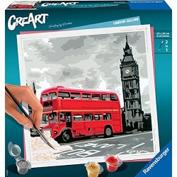 Ravensburger CreArt, Dipingere con i Numeri Adulto, Londra, Hobby Creativi Adulti, Painting by Numbers, 289974