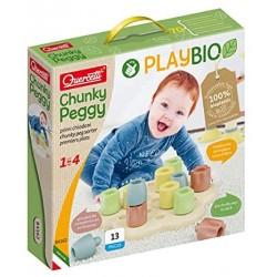 Quercetti-Quercetti-84162 Chunky Peggy Play Bio, Multicolore, 84162
