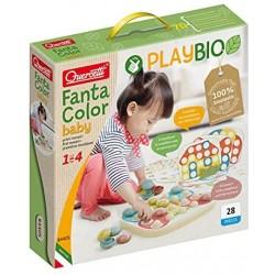 Quercetti - FantaColor Baby Play Bio, Multicolore, 84405