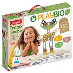 Quercetti - Tecno Jumbo Play Bio, Multicolore, 86165