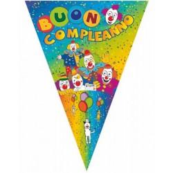 Bandiera Buon Compleanno Clown