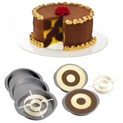 Set 4 Torta A Scacchiera