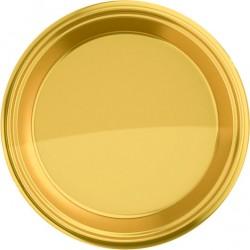 Piatti Rotondo 18 Cm Oro Pz.8