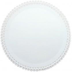 2 Sottotorta Crystal Tondi 29cm Bianco