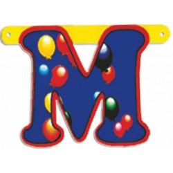 """Lettere Pallone Singole """"m"""""""